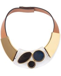Marni Contrasting Panel Necklace - Lyst
