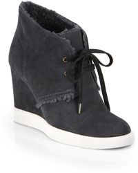 See By Chloé Faux Shearlinglined Suede Ankle Boots - Lyst