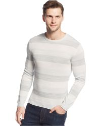 Calvin Klein Ck One Mercerized Cotton Space-Dyed Crew-Neck Sweater white - Lyst
