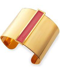 Tuleste Enamel Channel Cuff Bracelet - Lyst