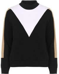 Topshop | Petite Colour Block Sweatshirt | Lyst