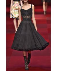 Dolce & Gabbana Layered Tulle Strapless Dress - Lyst