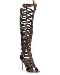 Gianvito Rossi Leather Gladiator Overtheknee Boots - Lyst