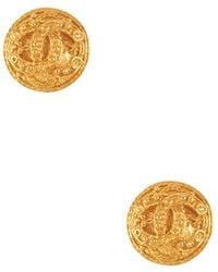 Chanel Pre-Owned Round Cc Filigree Earring gold - Lyst