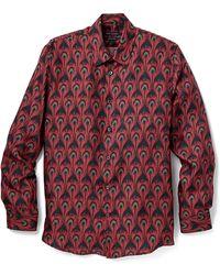 Marc Jacobs Silk Peacock Shirt - Lyst