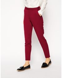 Asos Skinny Trousers with Zip Detail - Lyst