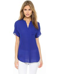 Vince - Silk Pocket Shirt - Lyst