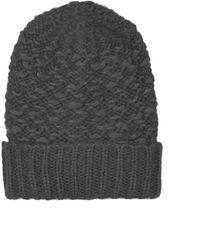 Topshop Luxe Slubby Beanie  Charcoal - Lyst