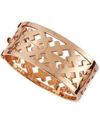 Katie Design Jewelry - Rose Gold Crosses Cuff Bracelet - Lyst