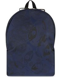 Alexander McQueen Skull Jacquard Backpack - For Men blue - Lyst