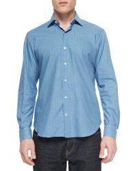 Culturata Plaid Long-Sleeve Sport Shirt - Lyst
