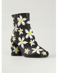 Maison Margiela Hand-Painted Leather Ankle Boots - Lyst