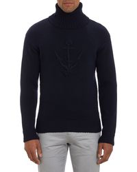 Faconnable Anchorknit Turtleneck Sweater - Lyst