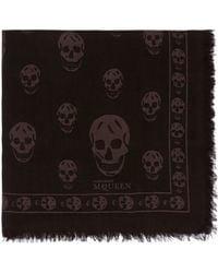 Alexander McQueen Classic Skull Modal-silk Scarf - Lyst
