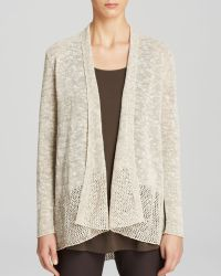 Eileen Fisher Angle Front Long Cardigan - Lyst