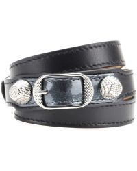 Balenciaga Giant Leather Bracelet - Lyst