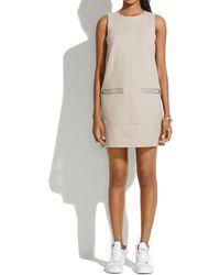 Madewell Sleeveless Zip Shiftdress gray - Lyst