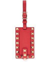 Valentino - 'Rockstud' Leather Luggage Tag - Lyst