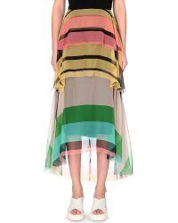 Dries Van Noten Siska Layered Silk-Chiffon Skirt - For Women - Lyst