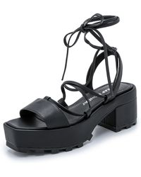 Cheap Monday Trapped Tied Platform Sandals - Black - Lyst