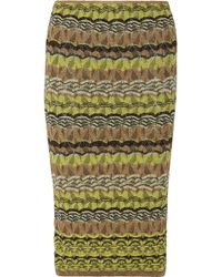 M Missoni Metallic Crochet-knit Skirt - Lyst