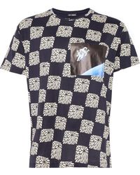 Raf Simons Black Checkerboard Astronaut T-Shirt - Lyst