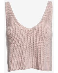 Exclusive For Intermix - Crop Knit Cami - Lyst