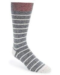Mr Gray - Textile 'denim Chip' Stripe Socks - Lyst