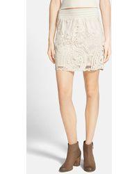 Blu Pepper - Crochet Overlay Skirt - Lyst