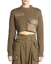 Marc Jacobs Wool Cropped Sweater - Lyst