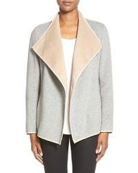 NYDJ - Drape Front Coat - Lyst