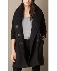 Burberry Oversize Contrast Fabric Coat - Lyst