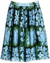 Cynthia Rowley Hawaiian Quilt Print Midi Skirt - Lyst