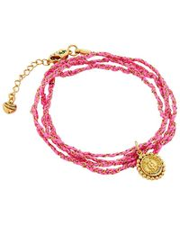 Juicy Couture - Woven Cord Wrap Bracelet - Lyst