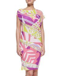 Emilio Pucci Printed Slub-Jersey Coverup Dress - Lyst