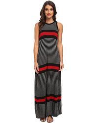 Karen Kane High Neck Maxi Tank Dress - Lyst