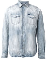 Diesel 'New-Sonora' Denim Shirt blue - Lyst