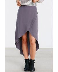 Kimchi Blue Silky Tulip Highlow Midi Skirt - Lyst