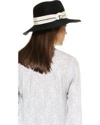 Lyst - Eugenia Kim Georgina Hat in Black 5225c42f3818