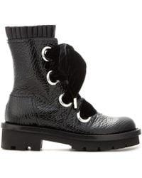 Alexander McQueen Black Patentleather Boots - Lyst