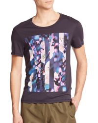J.Lindeberg Cherry Blossom Print Tee purple - Lyst