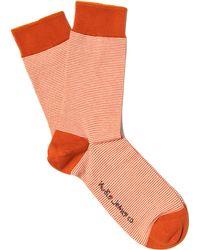 Nudie Jeans - Orange Mini Stripe Socks - Lyst