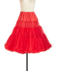 Hell Bunny London - Va Va Voluminous Petticoat In Red - Lyst