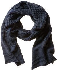 Banana Republic Textured Knit Scarf blue - Lyst