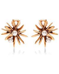 Oscar de la Renta Starburst Earrings - Lyst