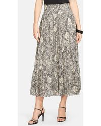 Lauren by Ralph Lauren - Print Tiered Cotton Skirt - Lyst