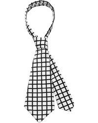 Scenery Label - Short Grid Necktie - Lyst
