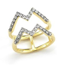 Elizabeth and James Maru 23k Gold Plated Zigzag Ring