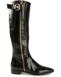 Gianmarco Lorenzi Pointed Toe Boots - Lyst