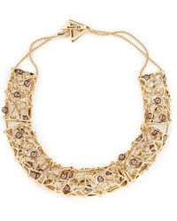 St. John - 'cage' Pearl Station Necklace - Lyst